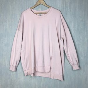 Asos Curve asymmetric split sweatshirt 18 blush